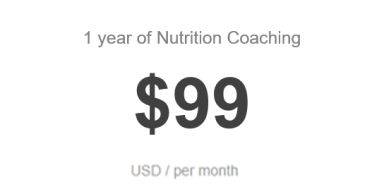 NUTRITION ONLY PRICING DECEMBER 2019